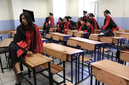 Turkish graduates in classroom