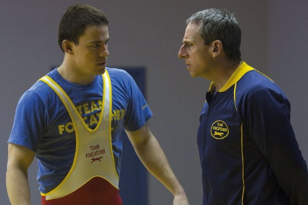 Channing Tatum and Steve Carrell in Foxcatcher