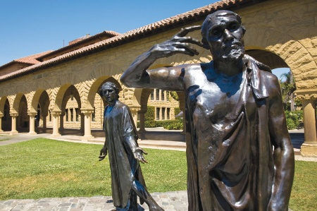 Stanford University campus bronze statues