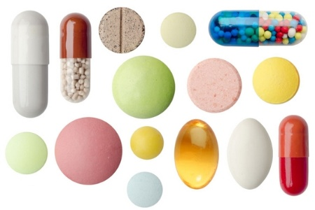 Colourful selection of pills