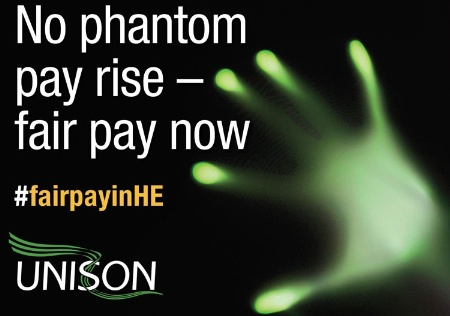 No phantom pay rise, Unison poster