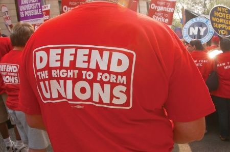 'Defend the Right to Form Unions' t-shirt