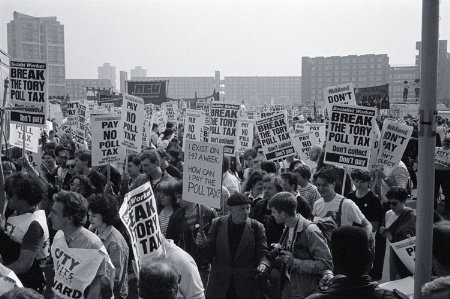 Poll tax demonstrators
