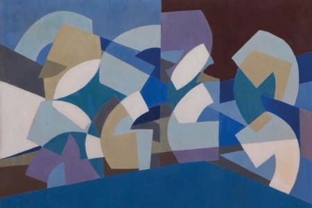Composition in Blue Module by Saloua Raouda Chouclair