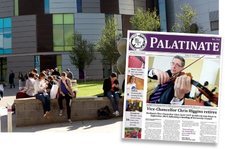 Durham University students and Palatinate cover