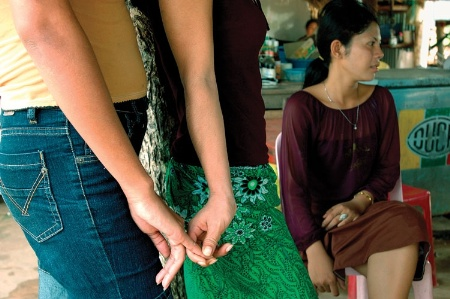 Sex workers in brothel in Koh Kong, Cambodia