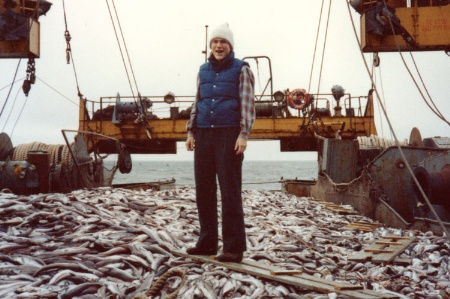 Professor Barbara Oakley on board Russian trawler