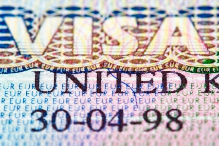 UK visa (detail)