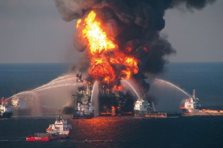 Deepwater Horizon rig fire (April 2010)