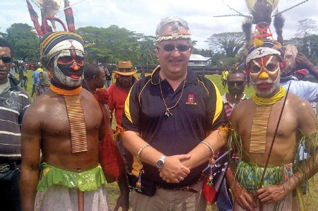 Students in tribal costumes