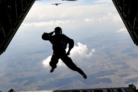 US Air Force paratrooper