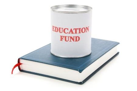 'Education Fund' tin can