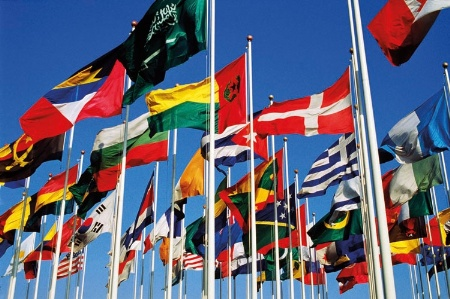 Flags of many countries