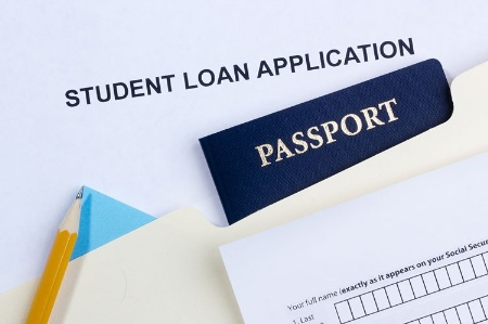 Student loan application and passport