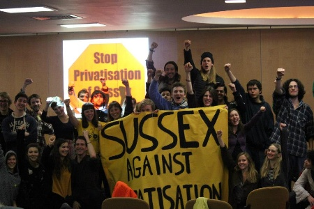 University of Sussex occupation against outsourcing
