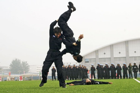 Chinese peacekeepers training