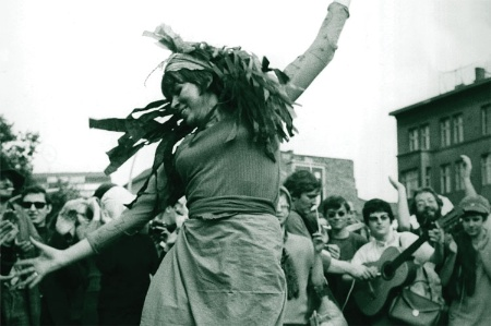 Woman dancing (B&W)