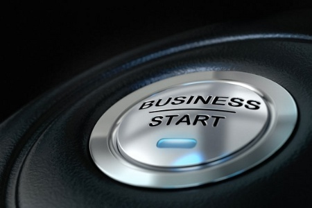 'Business Start' button