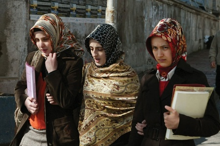 Three female Turkish students
