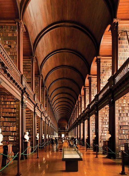 Trinity College Library in Dublin