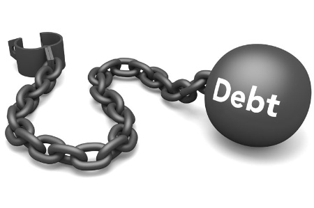 'Debt' ball and chain