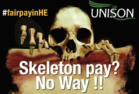 Skeleton Pay Unison poster