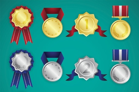 Gold and silver medals