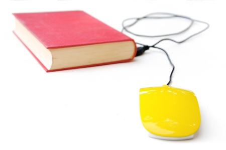 Mouse connected to book