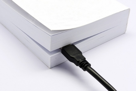 Knowledge transfer book with USB cable
