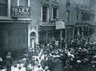 German business being attacked on Poplar High Street, London
