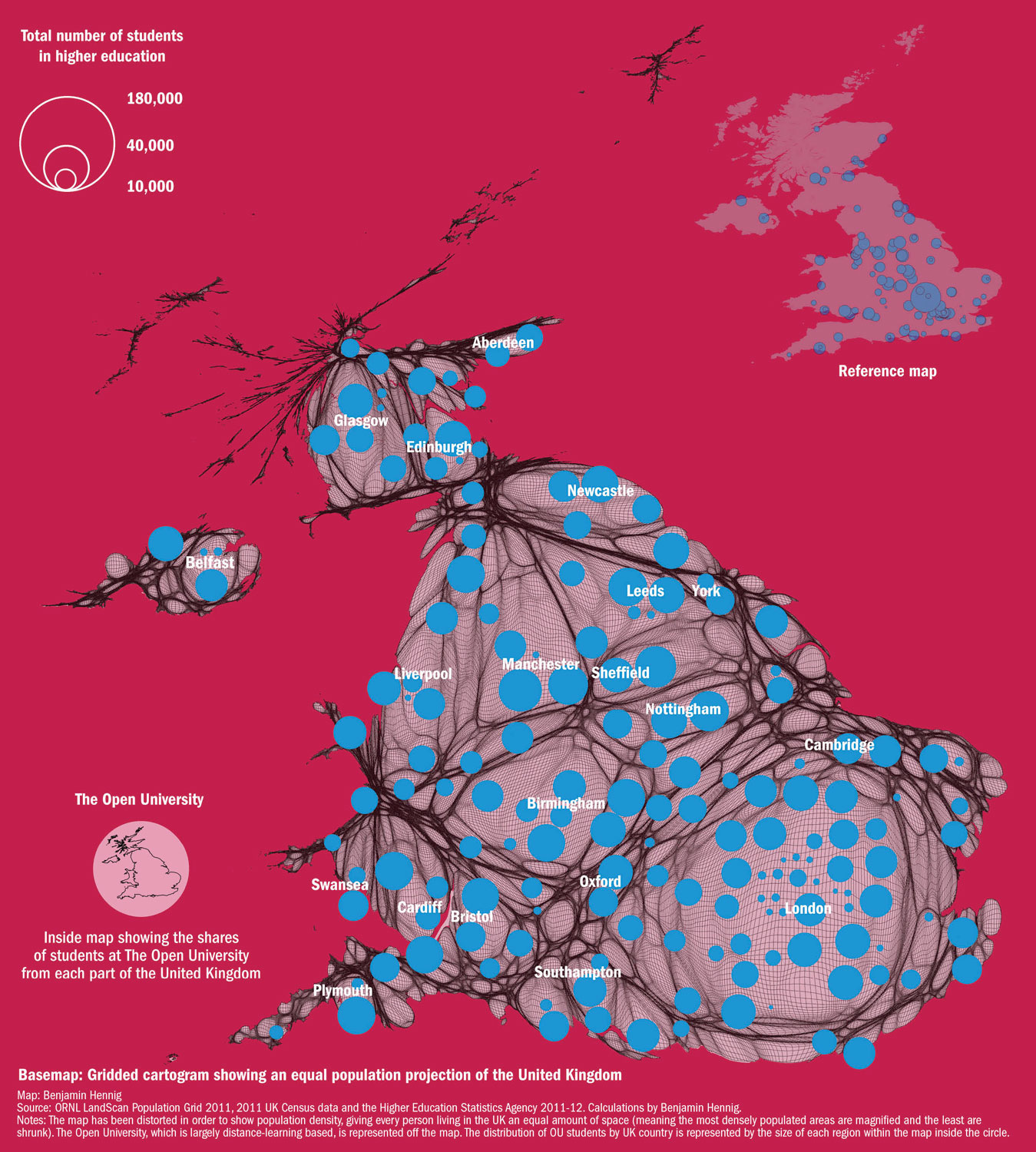 Concentration Of UK Universities V Population Distribution Times - Uk universities map