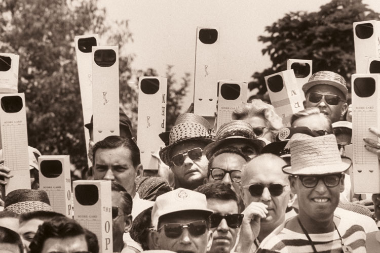 A group of people holding periscopes