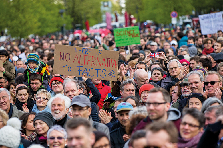 Alternative facts protesters