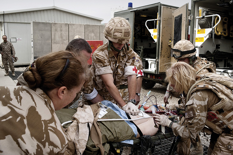 Army medics at Camp Bastion