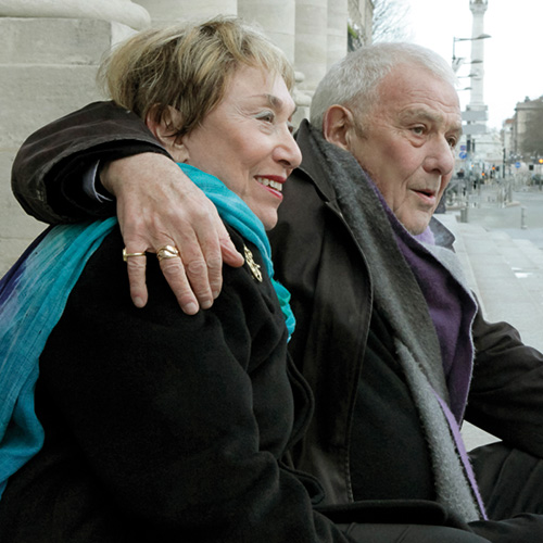 Authors Julia Kristeva and Philippe Sollers