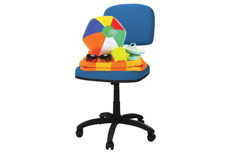 Beachwear on office chair