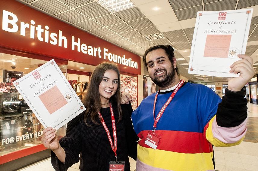 student volunteering at British Heart Foundation