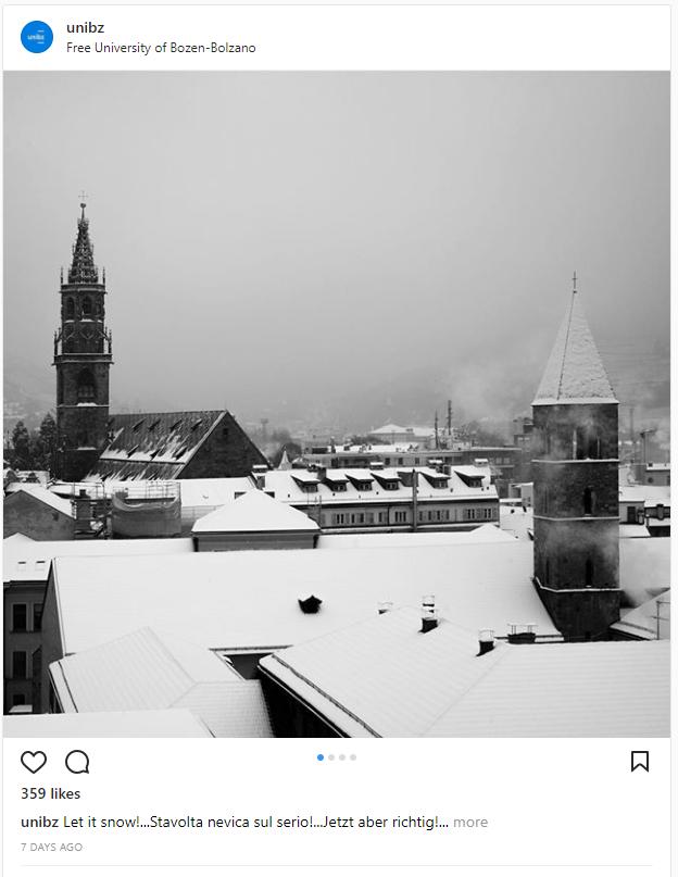 Most festive universities - University of Bozen Bolzano
