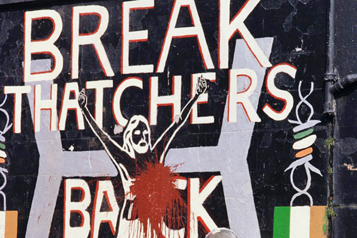 'Break Thatcher's Back' mural, Belfast, 1970s