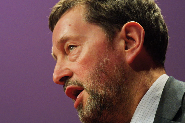 David Blunkett, Labour Party Conference, Glasgow, Scotland, 2003