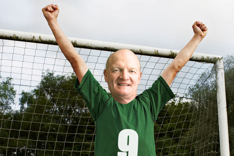 David Willetts celebrating football/soccer victory