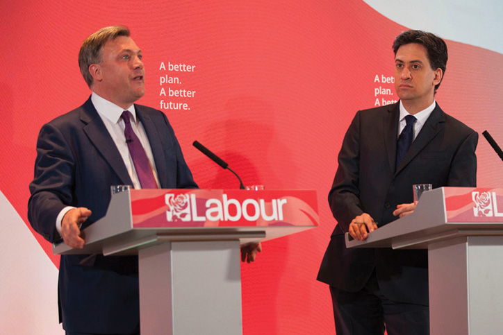 Ed Balls and Ed Miliband, Labour Party general election 2015 campaign event