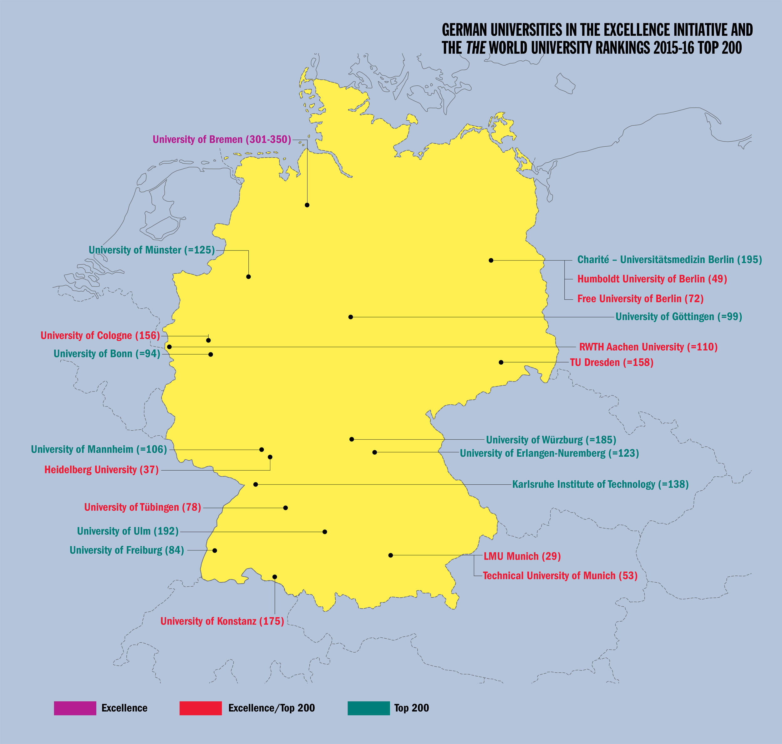 Germany An Alternative Route To Excellence THE Features - Germany map 2015