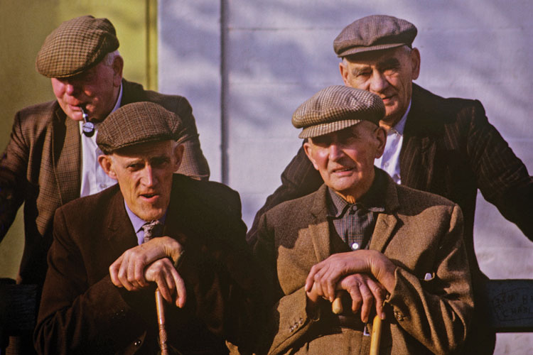 Group of old men, Dumphries, 1995