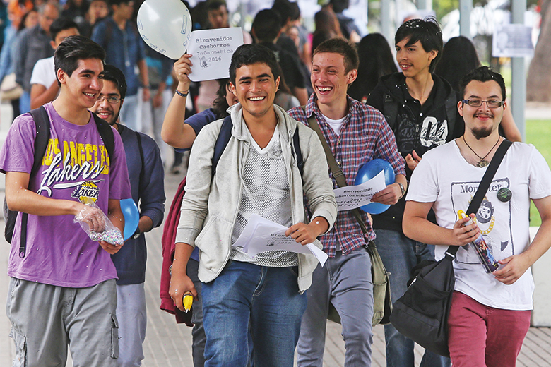 A group of students in Latin America