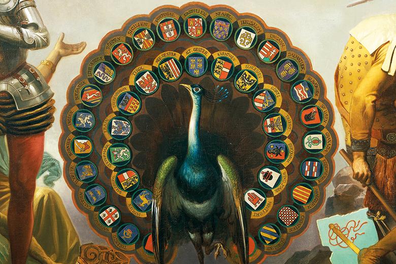 Heraldic peacock
