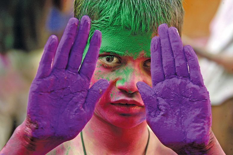 An image from the Holi festival