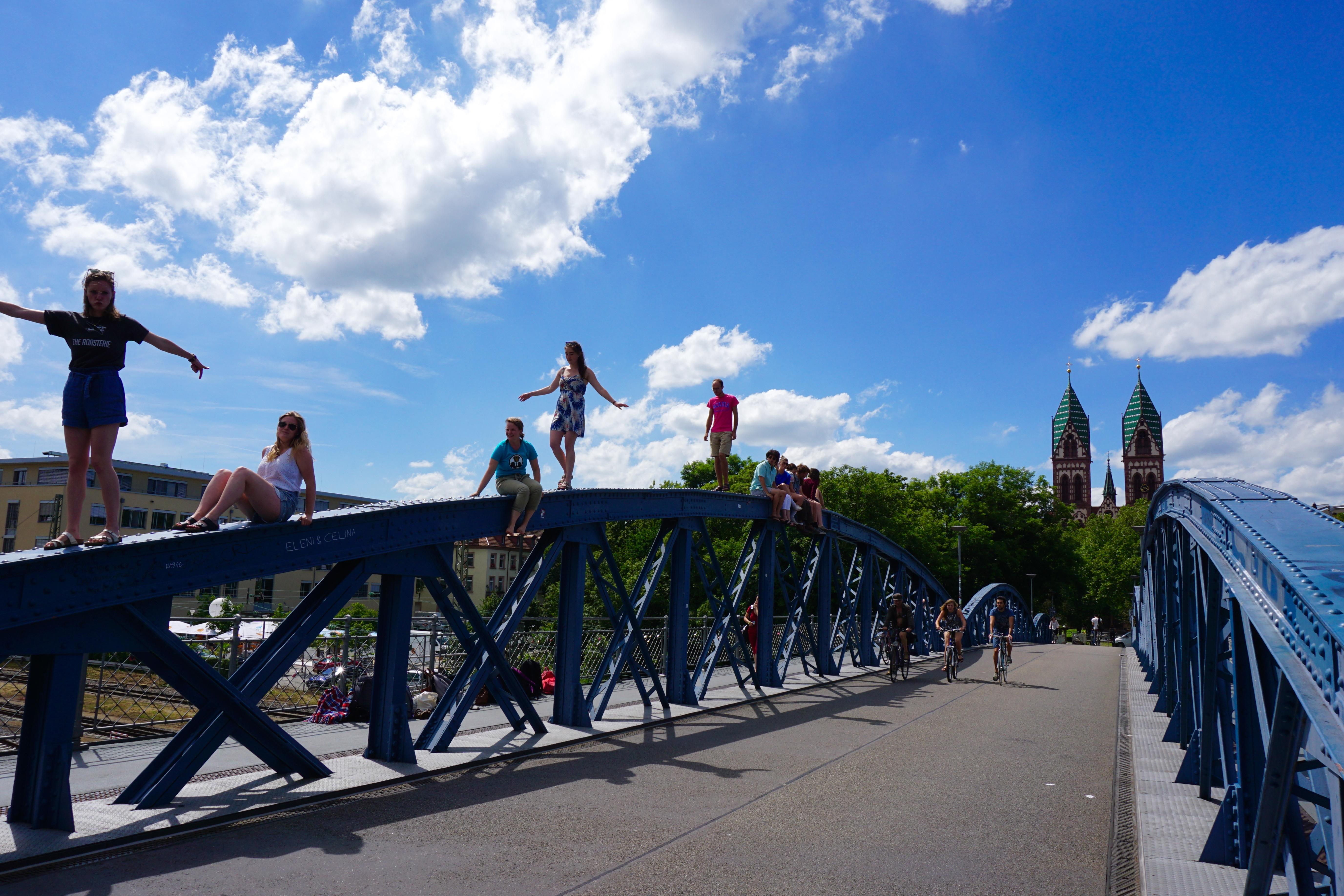 Sunny Dayon Blue Bridge, Freiburg by Sofia Deer