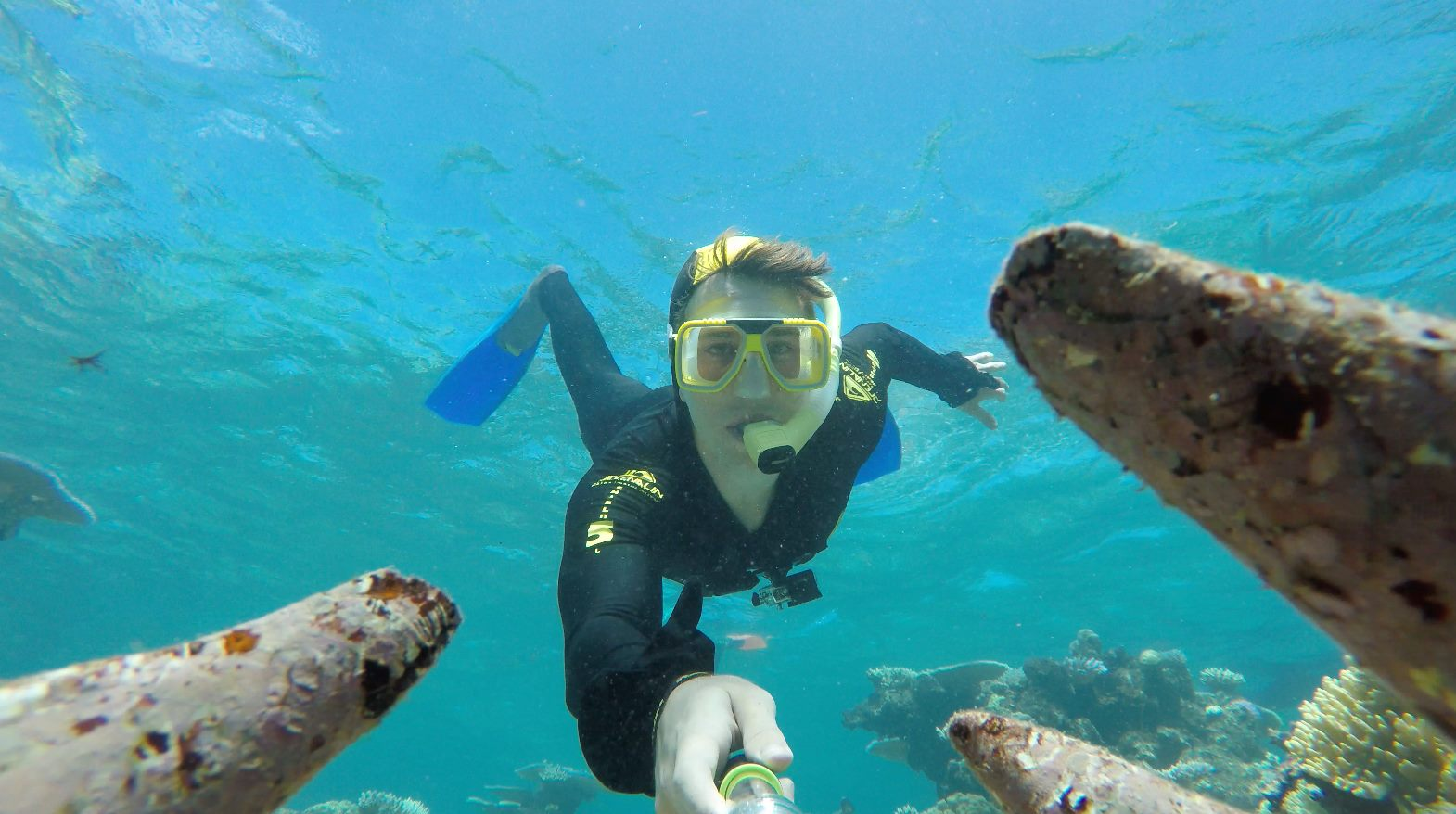 Snorkelling in the Great Barrier Reef by Michael Kaplan