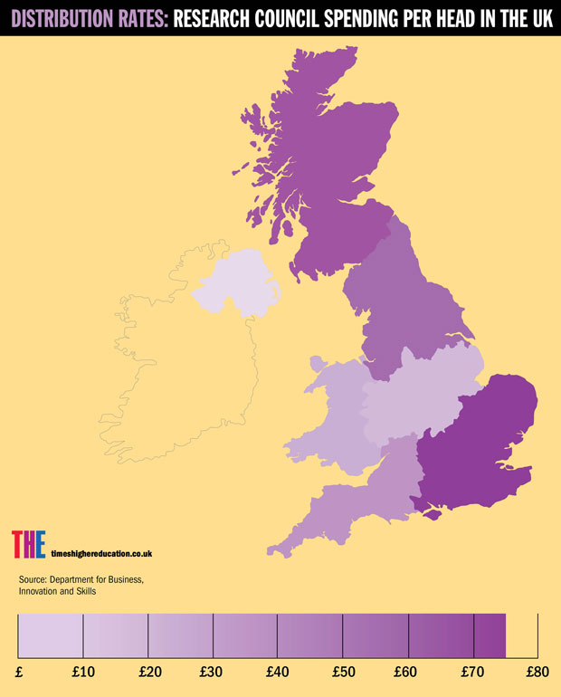 Research council spending per head in the UK infographic (small)